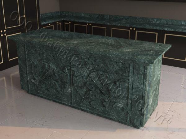 Барная стойка из натурального камня (мрамора) Вилорд, изображение, фото 6