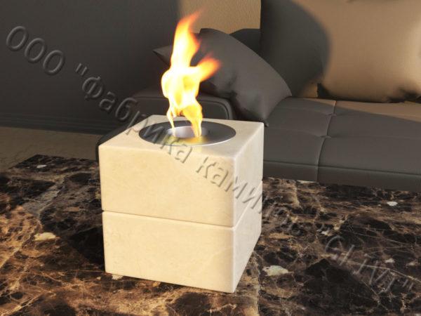 Мраморная облицовка (каминный портал) для камина на биотопливе Вирена, каталог (интернет-магазин) каминов из мрамора, изображение, фото 1