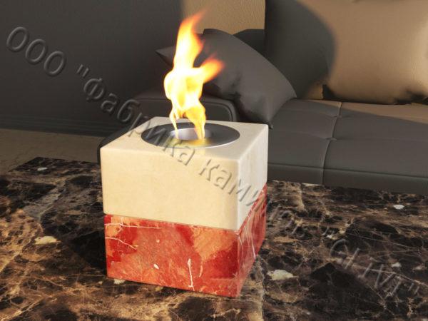 Мраморная облицовка (каминный портал) для камина на биотопливе Вирена, каталог (интернет-магазин) каминов из мрамора, изображение, фото 3