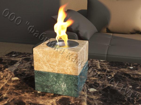 Мраморная облицовка (каминный портал) для камина на биотопливе Вирена, каталог (интернет-магазин) каминов из мрамора, изображение, фото 4