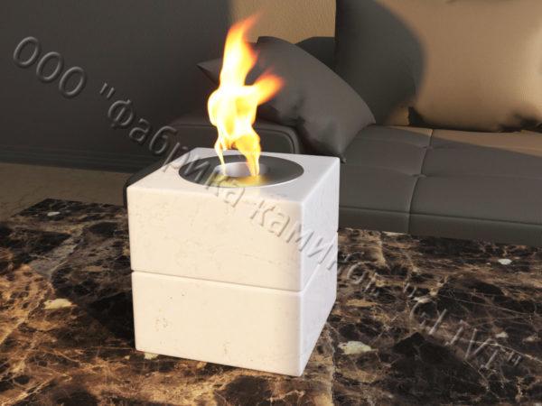 Мраморная облицовка (каминный портал) для камина на биотопливе Вирена, каталог (интернет-магазин) каминов из мрамора, изображение, фото 5