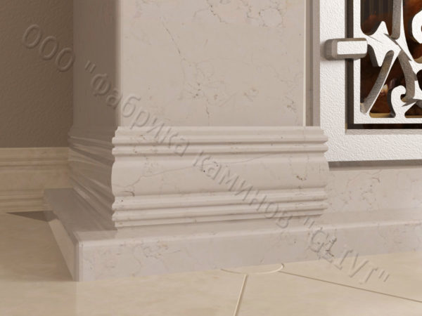 Мраморный камин с открытой топкой Вирго, каталог (интернет-магазин) каминов из мрамора, изображение, фото 4