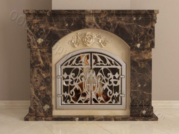 Мраморный камин с открытой топкой Вирго, каталог (интернет-магазин) каминов из мрамора, изображение, фото 7