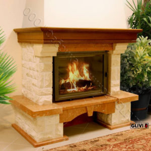 Мраморный каминный портал (облицовка) Висла, каталог (интернет-магазин) каминов из мрамора, изображение, фото 1