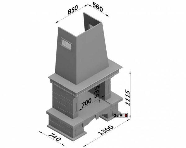Мраморный каминный портал (облицовка) Висла, каталог (интернет-магазин) каминов из мрамора, изображение, фото 2