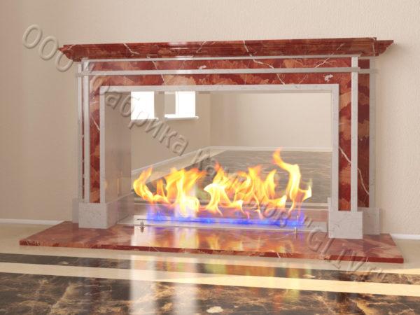 Напольный каминный портал (облицовка) для биокамина Влас, каталог (интернет-магазин) каминов, изображение, фото 10