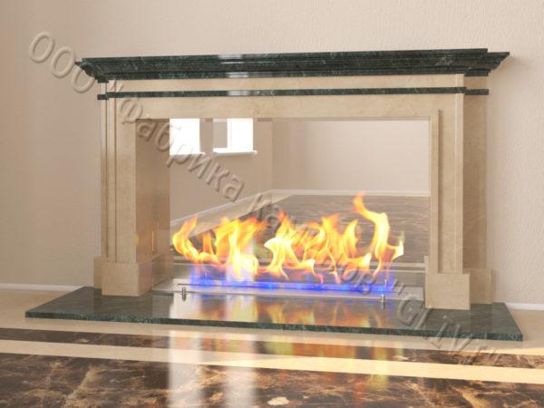 Напольный каминный портал (облицовка) для биокамина Влас, каталог (интернет-магазин) каминов, изображение, фото 11