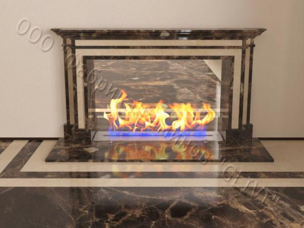 Напольный каминный портал (облицовка) для биокамина Влас, каталог (интернет-магазин) каминов, изображение, фото 2