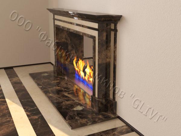 Напольный каминный портал (облицовка) для биокамина Влас, каталог (интернет-магазин) каминов, изображение, фото 3
