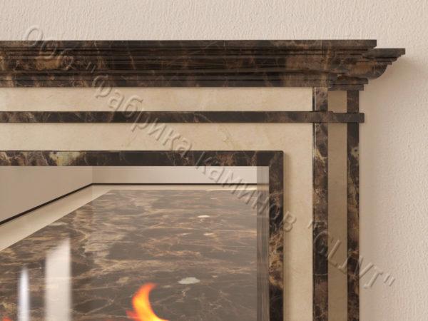 Напольный каминный портал (облицовка) для биокамина Влас, каталог (интернет-магазин) каминов, изображение, фото 4