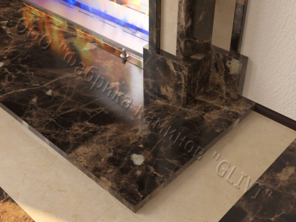 Напольный каминный портал (облицовка) для биокамина Влас, каталог (интернет-магазин) каминов, изображение, фото 5