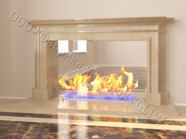 Напольный каминный портал (облицовка) для биокамина Влас, каталог (интернет-магазин) каминов, изображение, фото 6