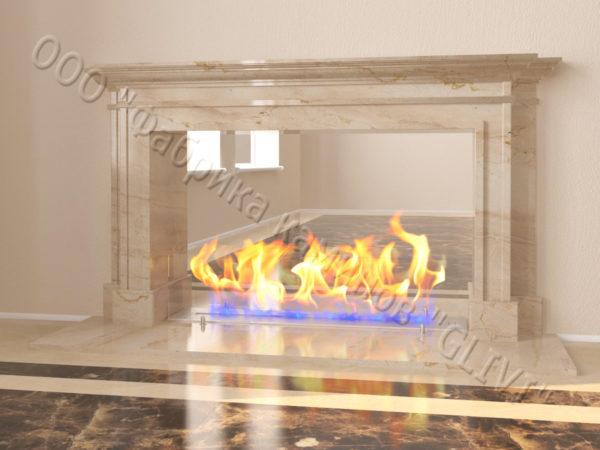Напольный каминный портал (облицовка) для биокамина Влас, каталог (интернет-магазин) каминов, изображение, фото 7