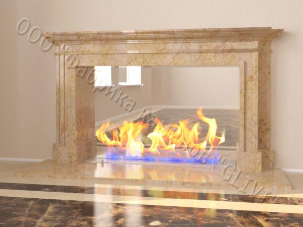 Напольный каминный портал (облицовка) для биокамина Влас, каталог (интернет-магазин) каминов, изображение, фото 8