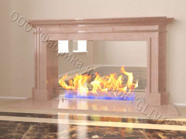 Напольный каминный портал (облицовка) для биокамина Влас, каталог (интернет-магазин) каминов, изображение, фото 9