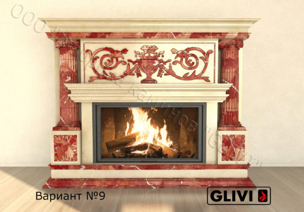 Мраморный каминный портал (облицовка) Афины, каталог (интернет-магазин) каминов из мрамора, изображение, фото 14