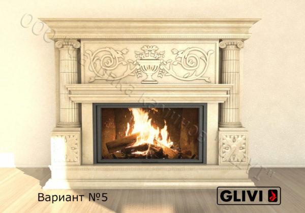 Мраморный каминный портал (облицовка) Афины, каталог (интернет-магазин) каминов из мрамора, изображение, фото 15