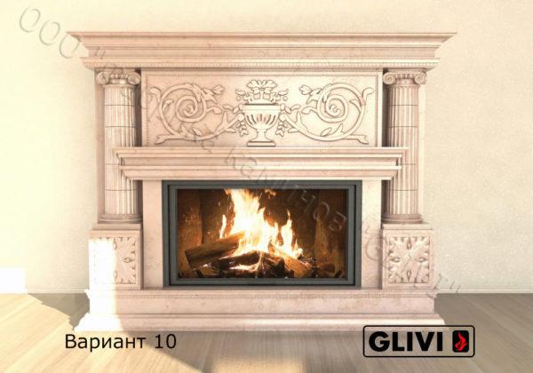 Мраморный каминный портал (облицовка) Афины, каталог (интернет-магазин) каминов из мрамора, изображение, фото 17