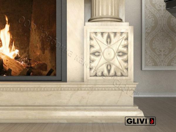 Мраморный каминный портал (облицовка) Афины, каталог (интернет-магазин) каминов из мрамора, изображение, фото 4