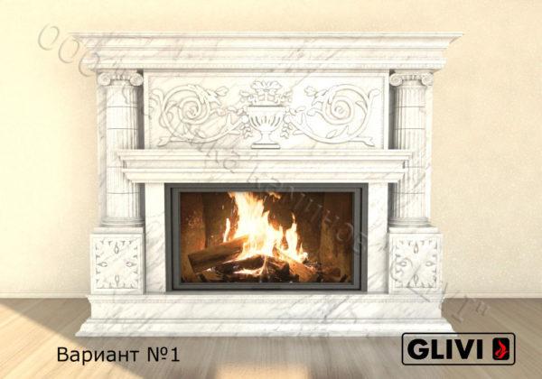 Мраморный каминный портал (облицовка) Афины, каталог (интернет-магазин) каминов из мрамора, изображение, фото 7