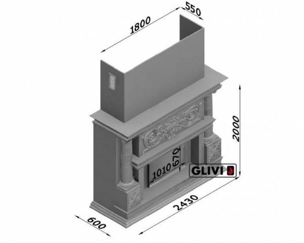 Мраморный каминный портал (облицовка) Афины, каталог (интернет-магазин) каминов из мрамора, изображение, фото 19