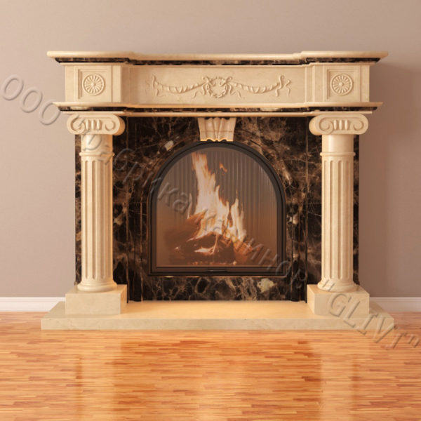 Мраморный каминный портал (облицовка) Аликанте, каталог (интернет-магазин) каминов из мрамора, изображение, фото 3
