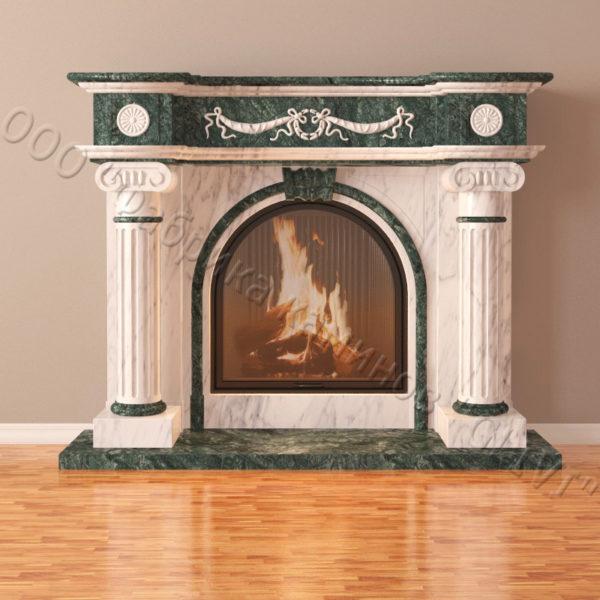 Мраморный каминный портал (облицовка) Аликанте, каталог (интернет-магазин) каминов из мрамора, изображение, фото 6