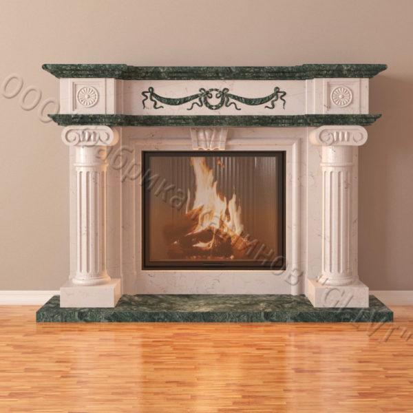 Мраморный каминный портал (облицовка) Аликанте Квадро, каталог (интернет-магазин) каминов из мрамора, изображение, фото 5
