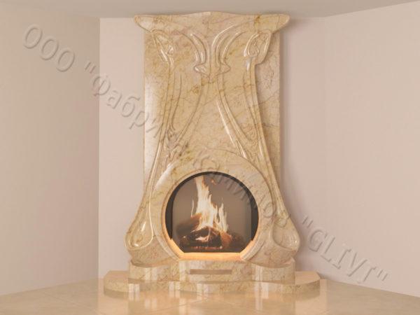 Мраморный каминный портал (облицовка) Алтум, каталог (интернет-магазин) каминов из мрамора, изображение, фото 10