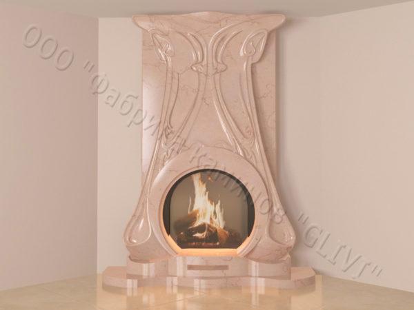 Мраморный каминный портал (облицовка) Алтум, каталог (интернет-магазин) каминов из мрамора, изображение, фото 11