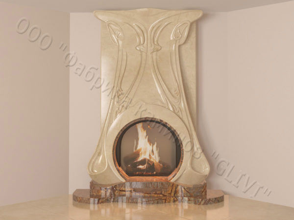 Мраморный каминный портал (облицовка) Алтум, каталог (интернет-магазин) каминов из мрамора, изображение, фото 13