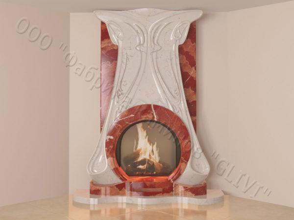 Мраморный каминный портал (облицовка) Алтум, каталог (интернет-магазин) каминов из мрамора, изображение, фото 14