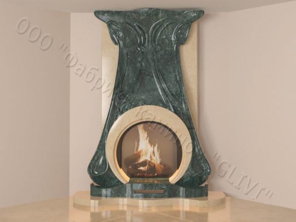 Мраморный каминный портал (облицовка) Алтум, каталог (интернет-магазин) каминов из мрамора, изображение, фото 15