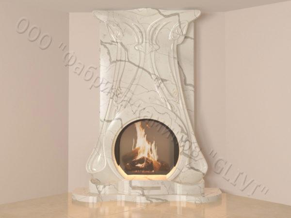 Мраморный каминный портал (облицовка) Алтум, каталог (интернет-магазин) каминов из мрамора, изображение, фото 16