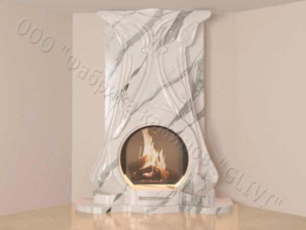 Мраморный каминный портал (облицовка) Алтум, каталог (интернет-магазин) каминов из мрамора, изображение, фото 17