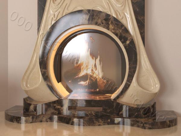 Мраморный каминный портал (облицовка) Алтум, каталог (интернет-магазин) каминов из мрамора, изображение, фото 2