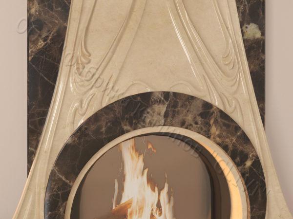 Мраморный каминный портал (облицовка) Алтум, каталог (интернет-магазин) каминов из мрамора, изображение, фото 3