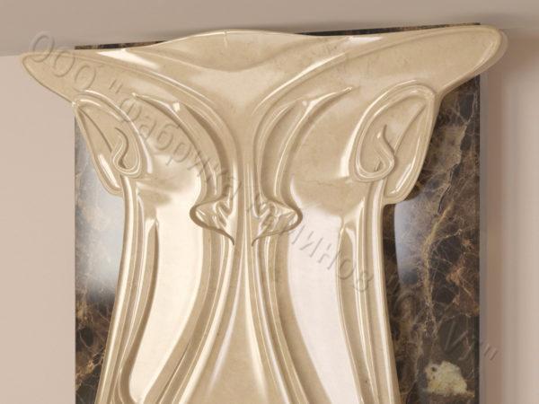 Мраморный каминный портал (облицовка) Алтум, каталог (интернет-магазин) каминов из мрамора, изображение, фото 4