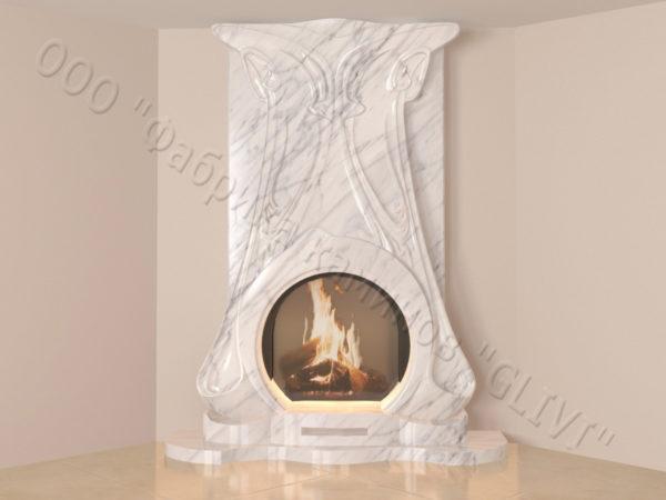 Мраморный каминный портал (облицовка) Алтум, каталог (интернет-магазин) каминов из мрамора, изображение, фото 7