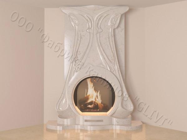 Мраморный каминный портал (облицовка) Алтум, каталог (интернет-магазин) каминов из мрамора, изображение, фото 9