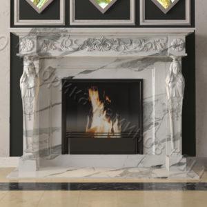 Мраморный каминный портал (облицовка) Анетис, каталог (интернет-магазин) каминов из мрамора, изображение, фото 1