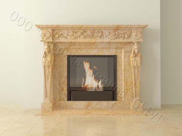 Мраморный каминный портал (облицовка) Анетис, каталог (интернет-магазин) каминов из мрамора, изображение, фото 10