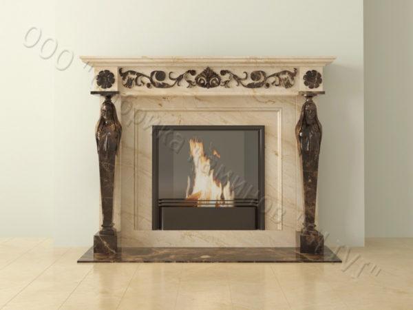 Мраморный каминный портал (облицовка) Анетис, каталог (интернет-магазин) каминов из мрамора, изображение, фото 11