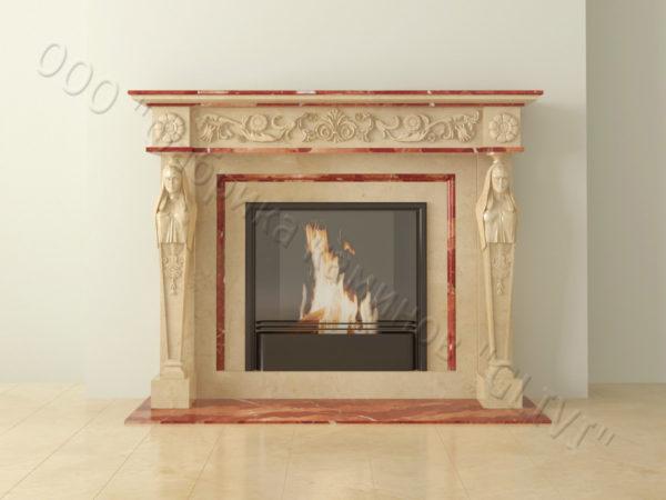 Мраморный каминный портал (облицовка) Анетис, каталог (интернет-магазин) каминов из мрамора, изображение, фото 13