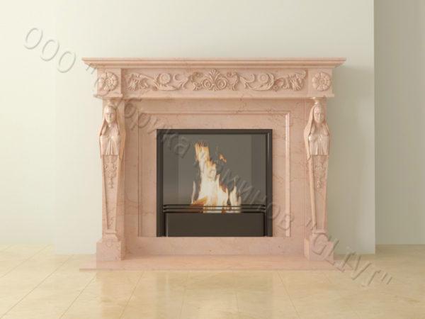 Мраморный каминный портал (облицовка) Анетис, каталог (интернет-магазин) каминов из мрамора, изображение, фото 14