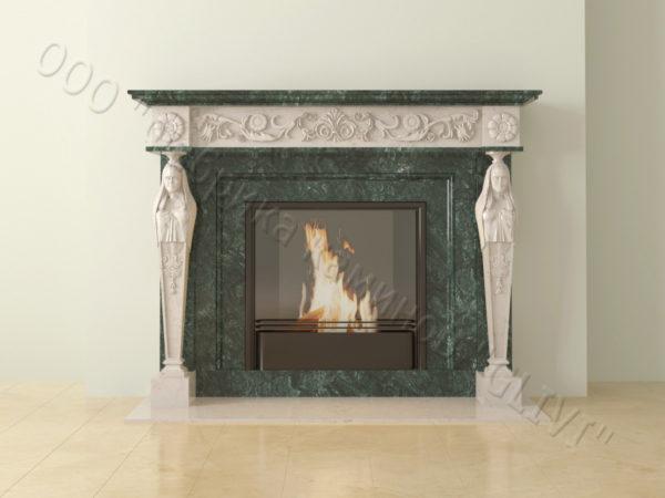 Мраморный каминный портал (облицовка) Анетис, каталог (интернет-магазин) каминов из мрамора, изображение, фото 16