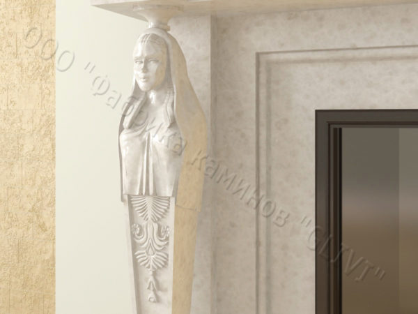 Мраморный каминный портал (облицовка) Анетис, каталог (интернет-магазин) каминов из мрамора, изображение, фото 3