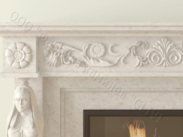 Мраморный каминный портал (облицовка) Анетис, каталог (интернет-магазин) каминов из мрамора, изображение, фото 4