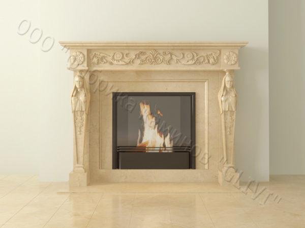 Мраморный каминный портал (облицовка) Анетис, каталог (интернет-магазин) каминов из мрамора, изображение, фото 9