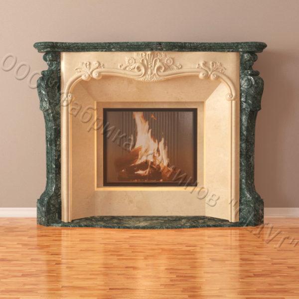 Мраморный каминный портал (облицовка) Авиньон, каталог (интернет-магазин) каминов из мрамора, изображение, фото 6
